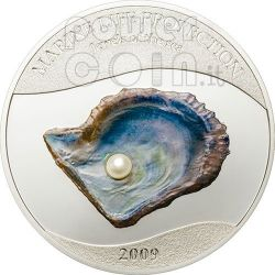 PEARL Jewels Of The Sea Marine Life Silver Coin 5$ Palau 2009