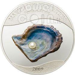 PERLA DEL MARE Marine Life Moneta Argento 5$ Palau 2009