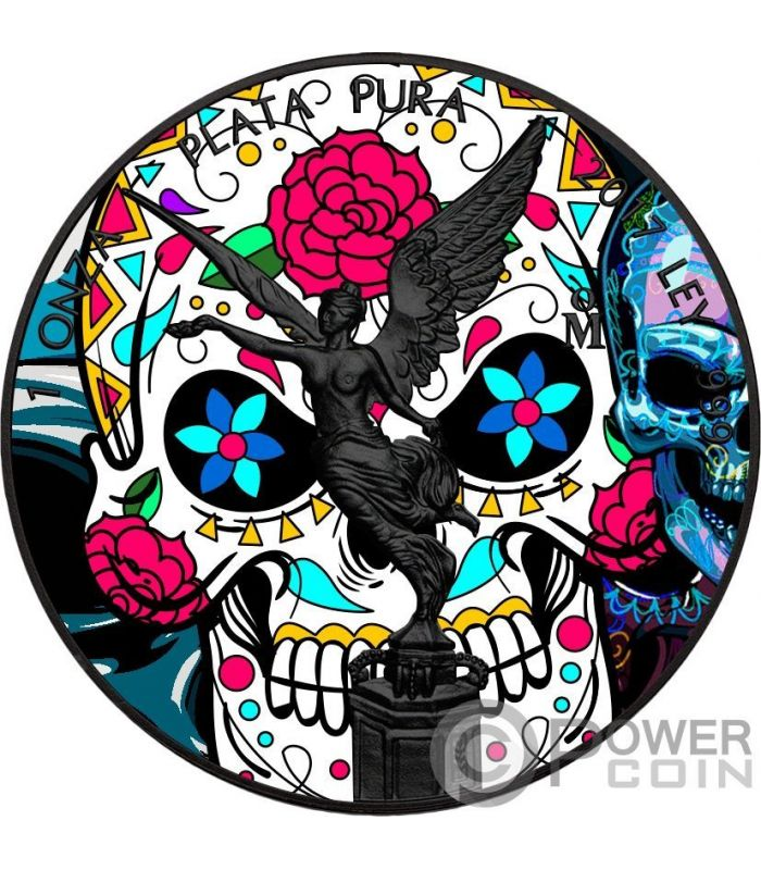 Dia De Los Muertos Day Of The Dead Libertad 1 Oz Silver
