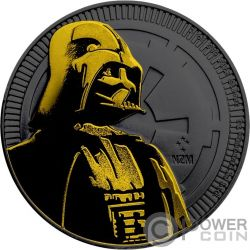 DARTH VADER Ruthenium Star Wars 1 Oz Silber Münze 2$ Niue 2017