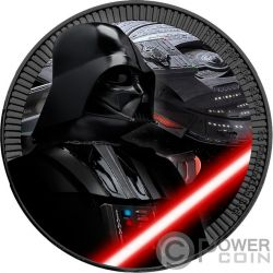DARTH VADER Dart Fener Colorata Star Wars 1 Oz Moneta Argento 2$ Niue 2017
