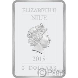 GOOD AND BAD Ocampo 1 Oz Silver Coin 2$ Niue 2018