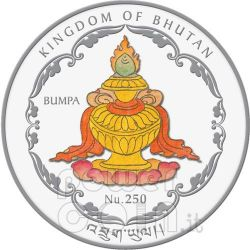 FOUR FACE BUDDHA World Heritage Серебро Монета Бутан 2010