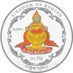 FOUR FACE BUDDHA World Heritage Silver Coin Bhutan 2010