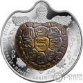 WELL BEING Tartaruga Tantalio Bimetallica Moneta Argento 100 Tenge Kazakhstan 2017