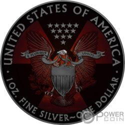 SKELETAL EAGLE Skelett- Armageddon Nuke Walking Liberty 1 Oz Silber Münze 1$ US Mint 2017