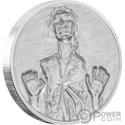 HAN SOLO Ultra High Relief Star Wars 2 Oz Silber Münze 5$ Niue 2017