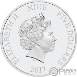 HAN SOLO Ultra High Relief Star Wars 2 Oz Silber Münze 5$ Niue 2017