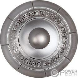 UFO ROSWELL INCIDENT 70th Anniversary Серебро Монета 2$ Ниуэ 2017