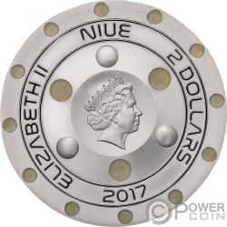 UFO ROSWELL INCIDENT 70 Aniversario Moneda Plata 2$ Niue 2017