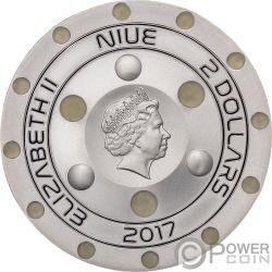 UFO ROSWELL INCIDENT 70 Anniversario Moneta Argento 2$ Niue 2017