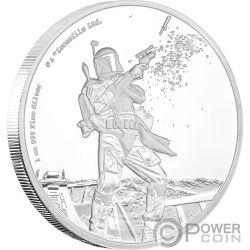 BOBA FETT Star Wars Classic 1 Oz Silver Coin 2$ Niue 2017