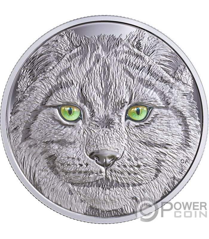 Lynx In The Eyes Of The Glow In The Dark Silver Coin 15