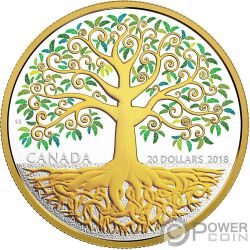 TREE OF LIFE 1 Oz Silver Coin 20$ Canada 2018