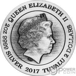LIEUTENANT COMMANDER WORF Star Trek Next Generation 30th Anniversary 2 Oz Silver Coin 2$ Tuvalu 2017