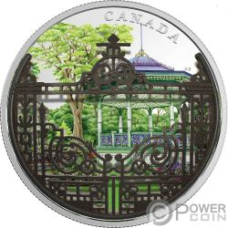 HALIFAX PUBLIC GARDENS Porton Jardin 2 Oz Moneda Plata 30$ Canada 2018