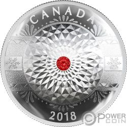 CLASSIC HOLIDAY ORNAMENT Concave Silver Coin 25$ Canada 2018