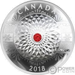 CLASSIC HOLIDAY ORNAMENT Ornamento Festivo Concave Moneta Argento 25$ Canada 2018