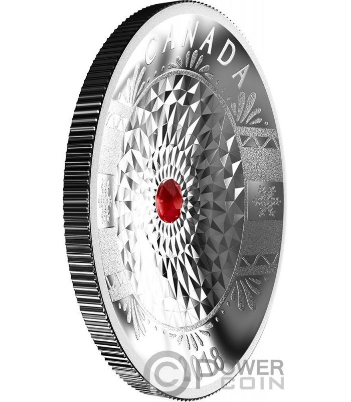Classic Holiday Ornament Concave Silver Coin 25 Canada