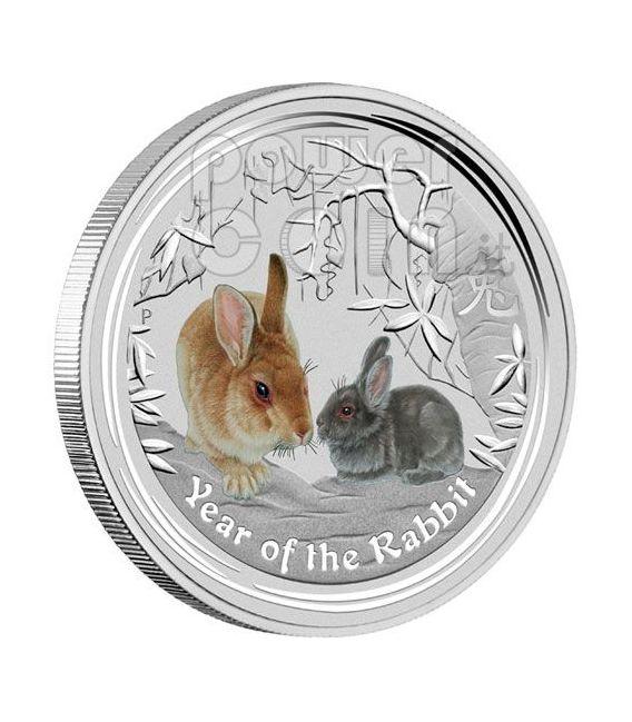 RABBIT Lunar Year Typeset 4 Silver Coins 1$ Australia 2011
