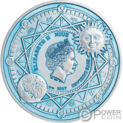 SUN Sol Celestial Bodies 2 Oz Moneda Plata 5$ Niue 2017