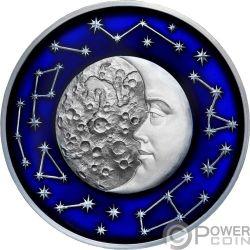 MOON Himmelskörper 2 Oz Silber Münze 5$ Niue 2017