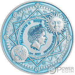 SUN AND MOON Celestial Bodies 2 Oz Silver Coin 5$ Niue 2017