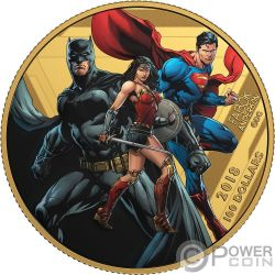 UNITED WE STAND Justice League Gold Coin 100$ Canada 2018