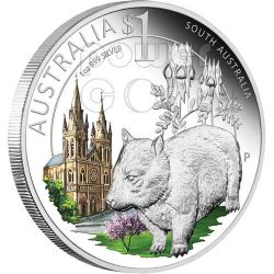 SOUTH CELEBRATE AUSTRALIA 1 Oz Silver Proof Coin 1$ 2010