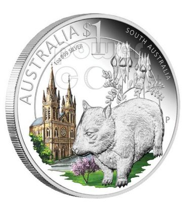 SOUTH CELEBRATE AUSTRALIA SUD 1 Oz Moneta Argento Proof 1$ 2010