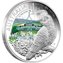 CELEBRATE AUSTRALIA CAPITAL 1 Oz Moneta Argento Proof 1$ 2010