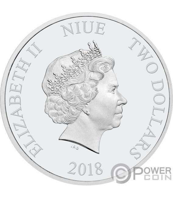 KINGFISHER Liebe ist kostbar 1 Oz Silber Münze 2$ Niue 2018