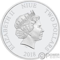 KINGFISHER Martin Pescador Love is Precious 1 Oz Moneda Plata 2$ Niue 2018