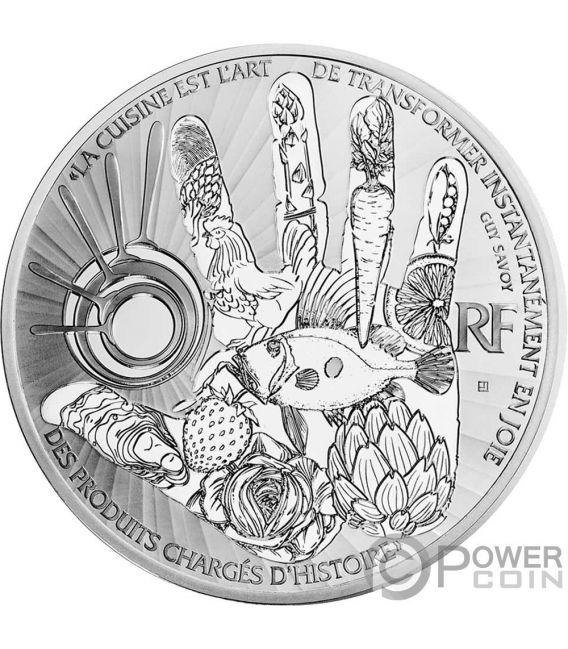 GUY SAVOY Huevo 5 Oz Moneda Plata 50€ Euro France 2017