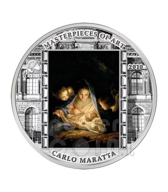 HOLY NIGHT Carlo Maratta 3 Oz Silber Münze 20$ Cook Islands 2010