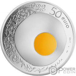 GUY SAVOY Uovo Concavo 5 Oz Moneta Argento 50€ Euro France 2017