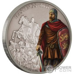 BATTLE OF HASTINGS Battles That Changed History 1 Oz Silver Coin 2$ Niue 2018