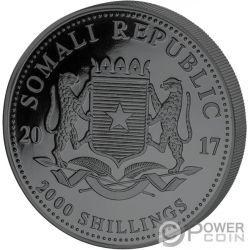 ELEPHANT Double Golden Enigma 1 Kg Kilo Silver Coin 2000 Shillings Somalia 2017