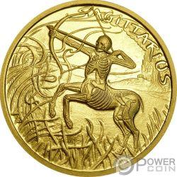 SAGITTARIUS Schütze Memento Mori Zodiac Skull Horoscope Gold Münze 2015