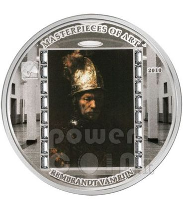 ELMO ORO Rembrandt Moneta Argento 3 Oz 20$ Cook Islands 2010