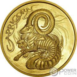 CAPRICORN Capricorno Memento Mori Zodiac Skull Horoscope Moneta Oro 2015