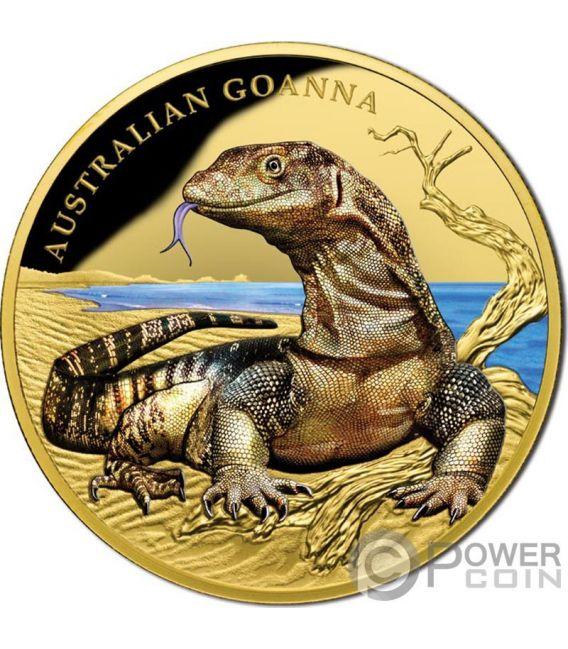 Australian Goanna Remarkable Reptiles 1 Oz Gold Coin 100