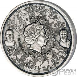 EPIDAURUS Greek History of Theatre 3 Oz Silver Coin 7$ Niue 2016