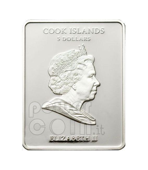 VASILY TROPININ Merlettaia Moneta Argento 5$ Cook Islands 2010