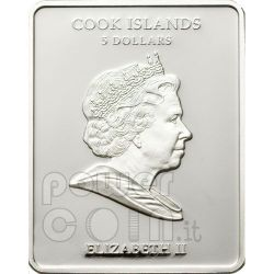 VASILY TROPININ Lace Maker Moneda Plata 5$ Cook Islands 2010