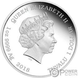 WEALTH AND WISDOM Perro Lunar Good Fortune 2x1 Oz Monedas Plata 1$ Tuvalu 2018