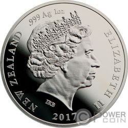 PLATINUM WEDDING 70th Anniversary 1 Oz Silver Coin 1$ New Zealand 2017