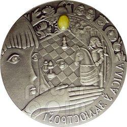 ALICE ATTRAVERSO LO SPECCHIO Moneta Argento Ambra Bielorussia 2007