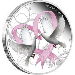 LOVE COIN Amore Colombe Cuore Moneta Argento 1$ Tuvalu 2011