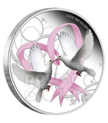 LOVE COIN Doves Heart Valentine 1$ Silver Tuvalu 2011
